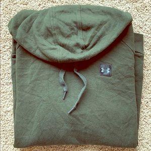 Under armour green sweatshirt